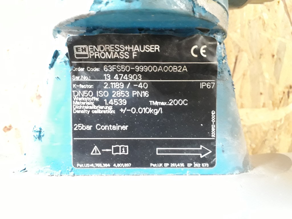 Endress & Hauser Promass F & Promass 63 Flowmeters