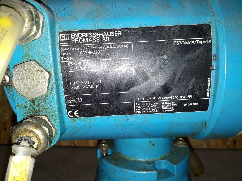 Endress & Hauser Promass A & Promass 80 Durchflussmessern