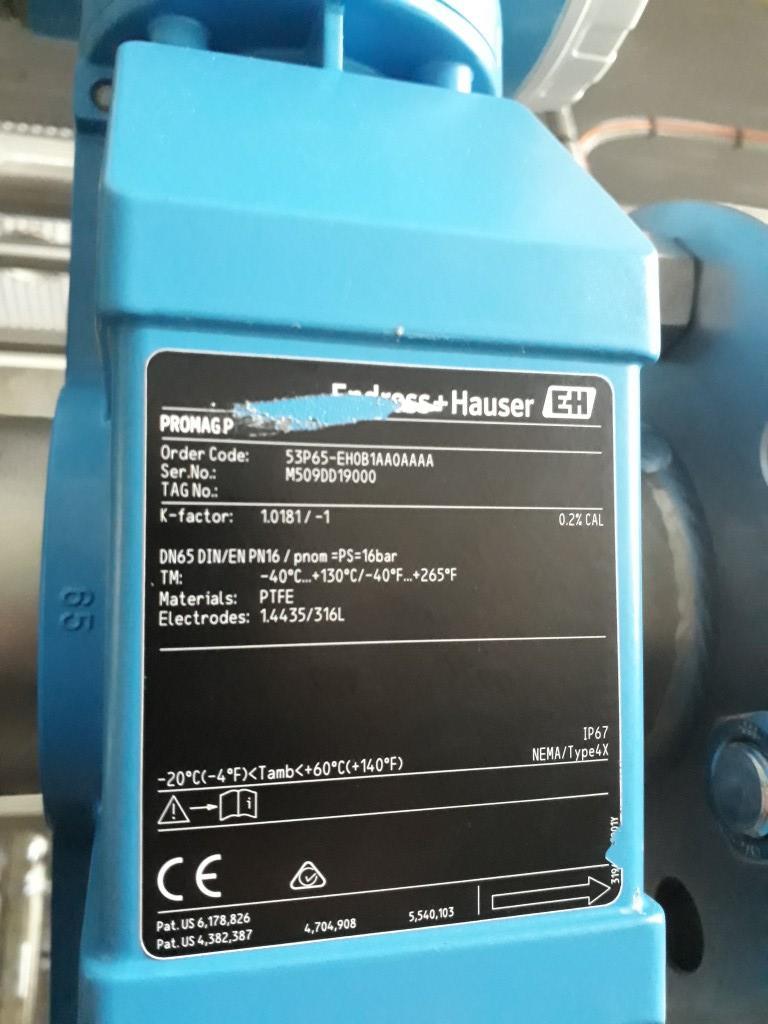 Endress & Hauser Promag P & Promag 53 Flowmeters