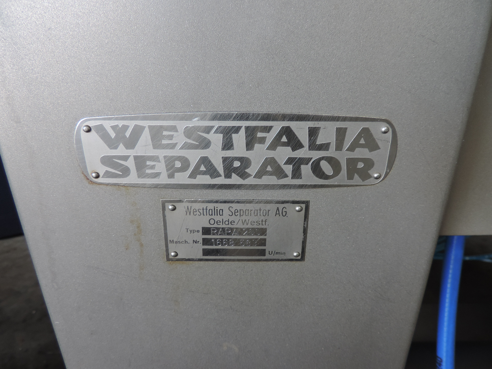 Westfalia RAPA 200 Separator accessories