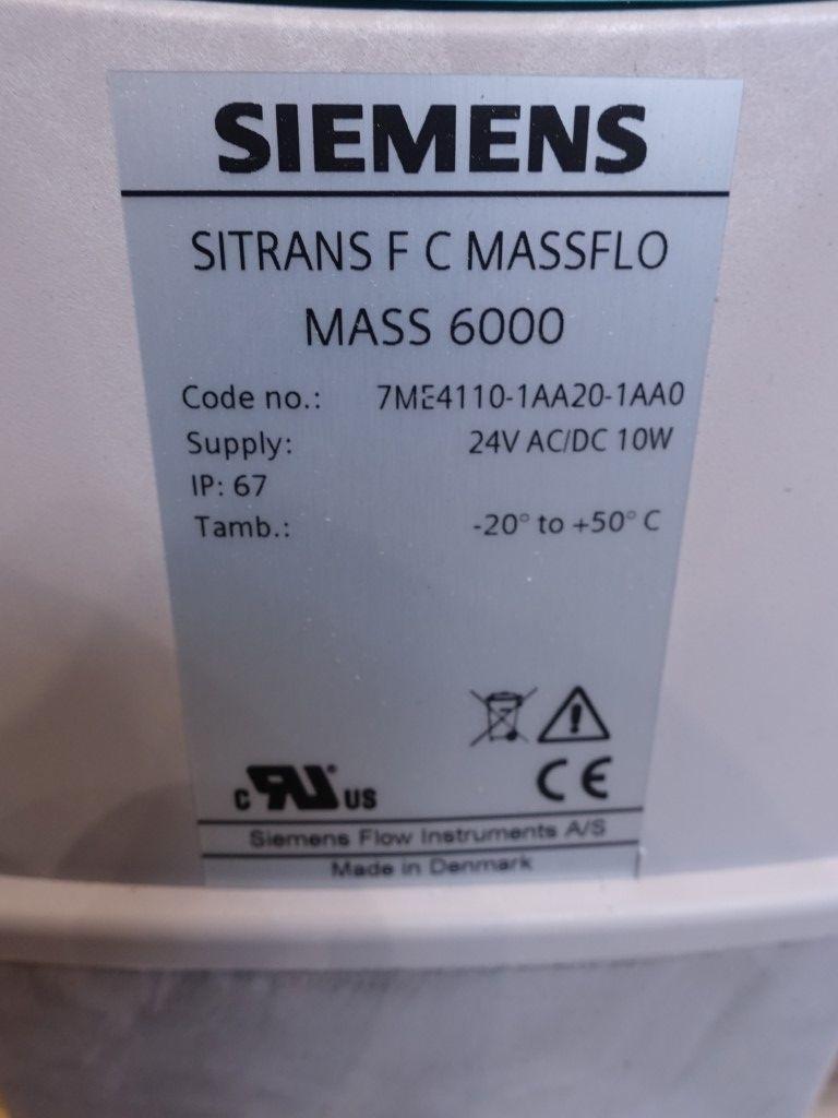 Siemens Sitrans F C Massflo Mass 6000 /2100 Flowmeters